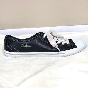 Cole Haan Nike air black leather sneakers